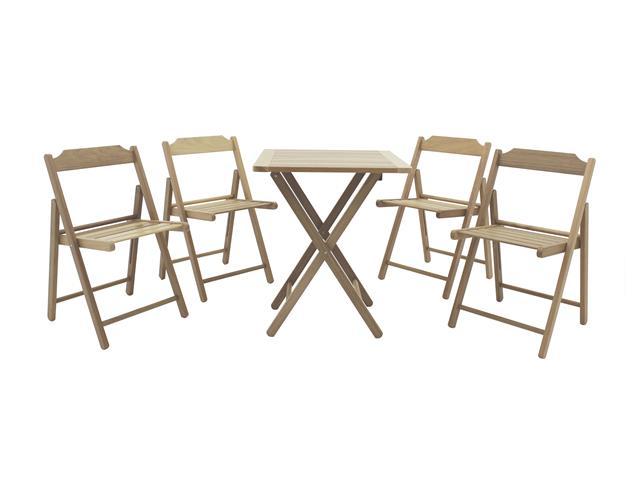 Conjunto de Cadeiras e Mesa de Madeira Tramontina Beer 5 Peças