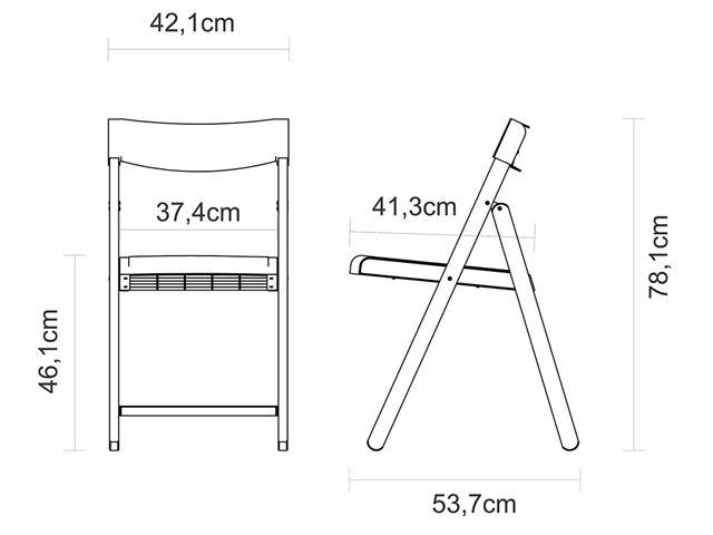 Conjunto de Mesa e Cadeira Tramontina Potenza Tabaco/Branco 5 Peças - 2