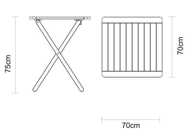Conjunto de Mesa e Cadeira Tramontina Potenza Tabaco/Branco 5 Peças - 3
