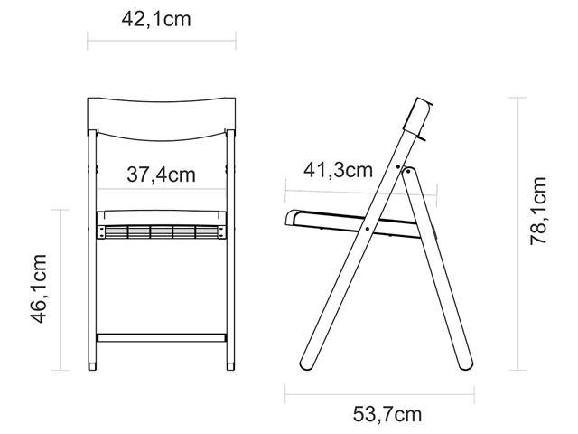 Conjunto de Mesa e Cadeira Tramontina Potenza Tabaco/Vermelho 5 Peças - 3
