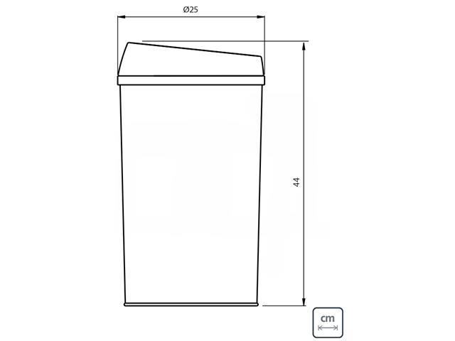Lixeira com Sensor Tramontina Aço Inox 12 Litros - 2