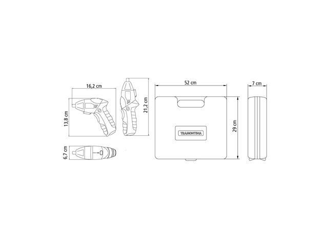 Parafusadeira à Bateria 3,6V Tramontina 46 Peças - 9