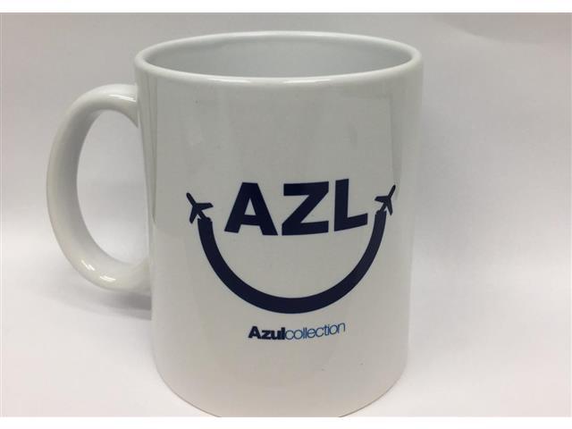 Caneca de Porcelana 300ml Azul Collection - AZUL VIAGENS