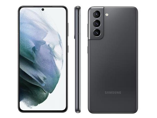 """Smartphone Samsung Galaxy S21 5G Cinza 128GB, 8GB RAM, Tela Infinita de 6.2"""", Câmera Traseira Tripla, Android 11 e Processador Octa-Core - 1"""