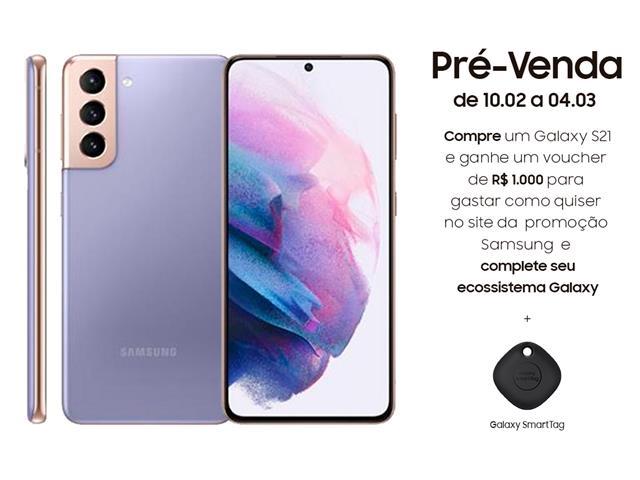 "Smartphone Samsung Galaxy S21 5G 128GB 6.2"" 8GB RAM 64+12+12MP Violeta"