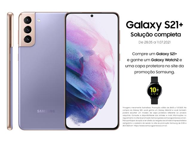 "Smartphone Samsung Galaxy S21+ 5G 256GB 6.7""8GB RAM 64+12+12MP Violeta"