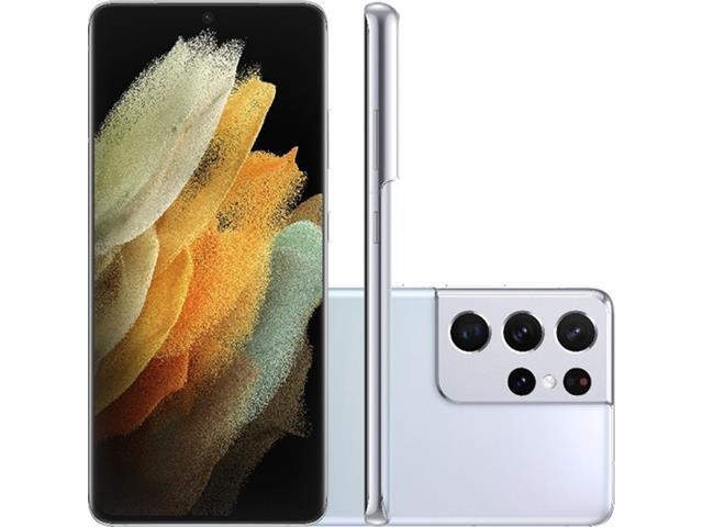 "Smartphone Samsung Galaxy S21 Ultra 5G 256GB 6.8"" 108+12+10+10MP Prata"