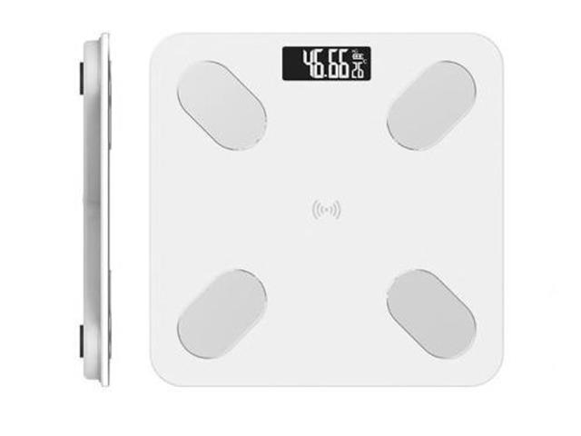 Pesa Digital Balanza Baño Bluetooth Blanca Inteligente