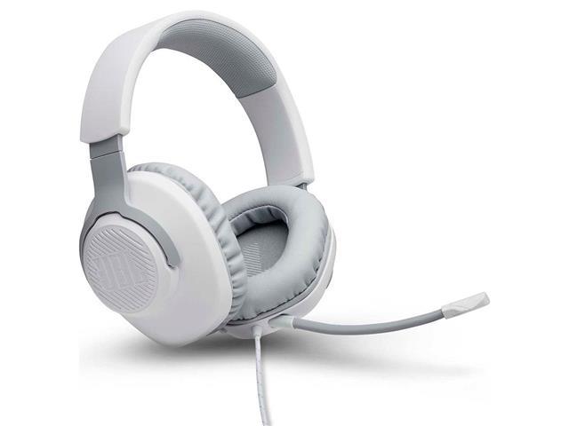 Headset Gamer JBL Quantum 100 Drivers 40mm Branco 28913225 - 1