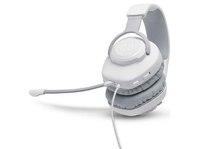 Headset Gamer JBL Quantum 100 Drivers 40mm Branco 28913225 - 4
