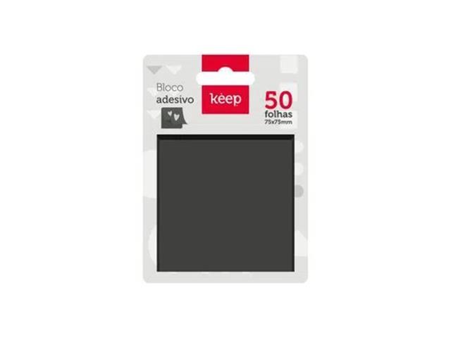 Bloco Adesivo Keep EI015 75x75mm Preto 50Fls - 2
