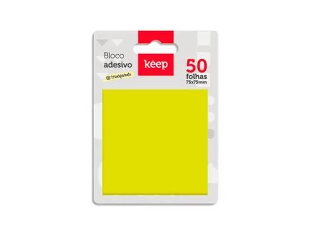 Bloco Adesivo Pet Keep EI029 Amarelo 75x75mm 50Fls - 1
