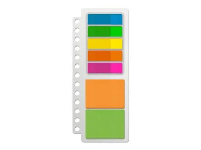 Kit Keep EI030 Organizer 5 Flags + 2 Blocos Adesivos Neon 175Fls