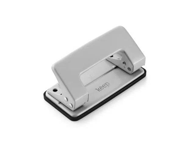 Perfurador de Papel Keep EI010 2 Furos 6mm 12Fls