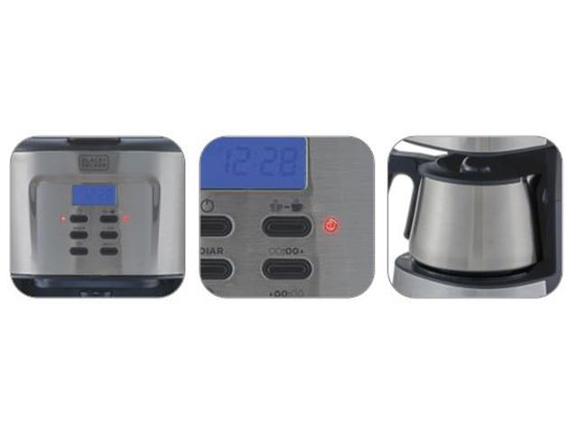 Cafeteira Elétrica em Inox Black&Decker Gourmand Gris 30 Cafés 220V - 1