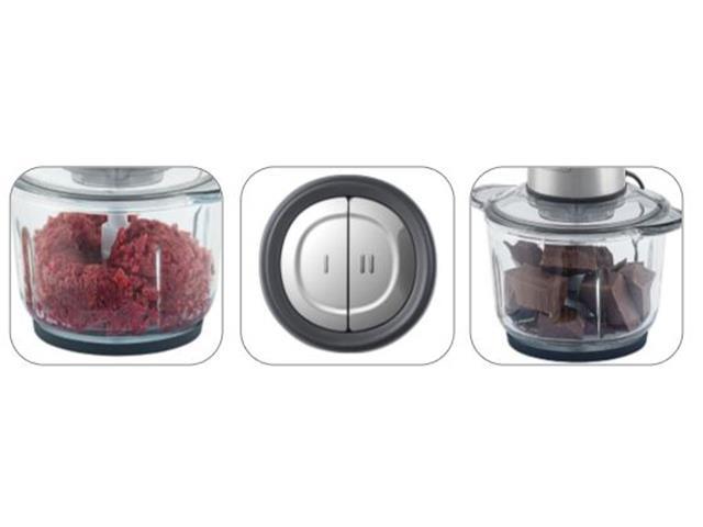 Miniprocessador Inox Black&Decker Gourmand Gris Tigela de Vidro 110V - 1