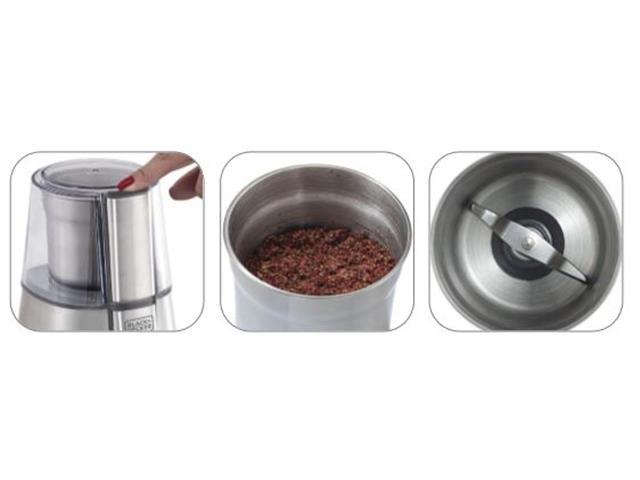 Moedor de Grãos Inox Black&Decker Gourmand Gris Ajuste de Moagem 110V - 1
