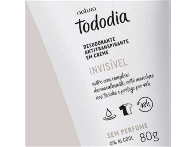 Desodorante Antitranspirante em Creme Natura TodoDia Sem Perfume 80G - 1