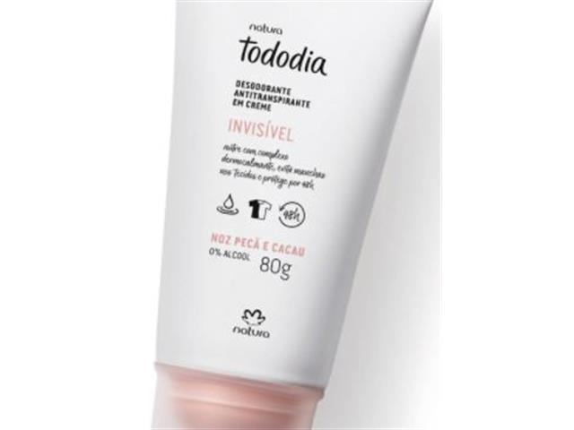 Desodorante Antitranspirante Creme Natura Tododia Noz Pecã e Cacau 80G - 1