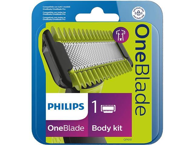 Kit Philips QP610/50 Lâminas para Oneblade Rosto e Corpo 1 Unidade