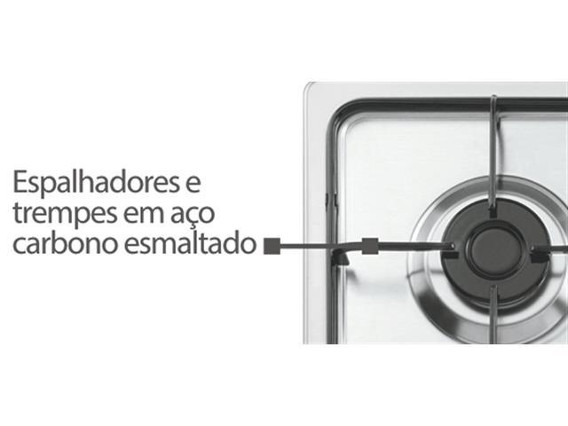 Cooktop a Gás 4 Bocas Tramontina Brasil 4GX 60 Inox Bivolt - 2