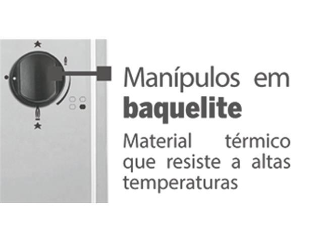 Cooktop a Gás 4 Bocas Tramontina Brasil 4GX 60 Inox Bivolt - 4