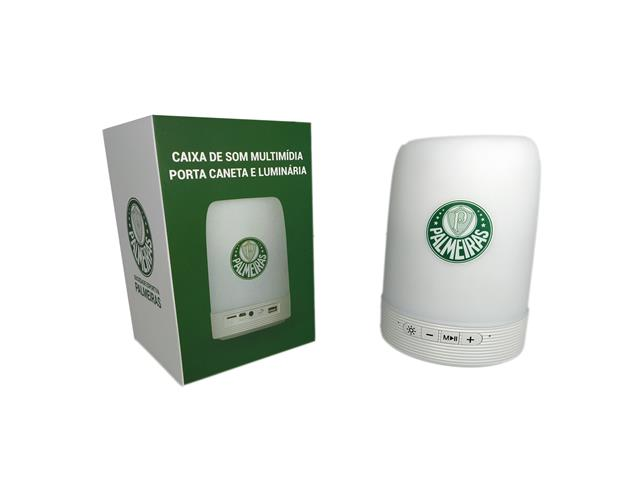 Caixa de Som Multimídia com Luminária Oficial Palmeiras