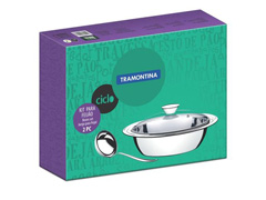 Kit para Feijão Tramontina em Aço Inox 2 Peças - 1