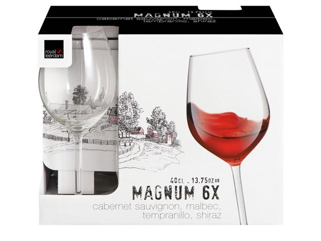 Jogo de Taças para Vinho Magnum 6 Peças de 400ML - 1