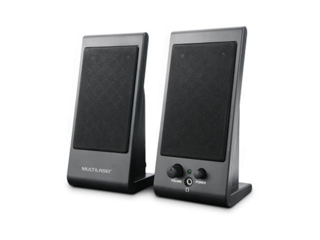 Caixa de Som Multilaser SP009 2.0 3W RMS Flat USB