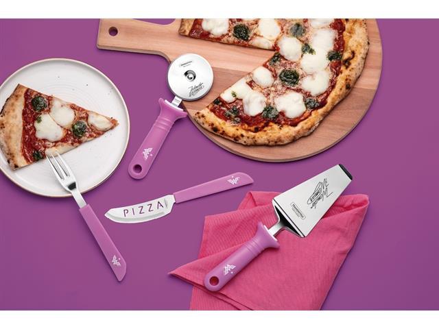 Jogo para Pizza Tramontina Mulher Maravilha 1984 em Aço Inox 14 Peças - 3
