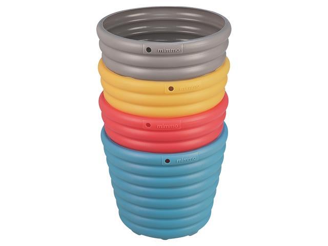 Conjunto de Cachepôs Vasos Tramontina em Plástico Colorido 4 Peças