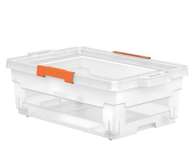 Caixa Organizadora Tramontina com Rodas 40 Litros Transparente