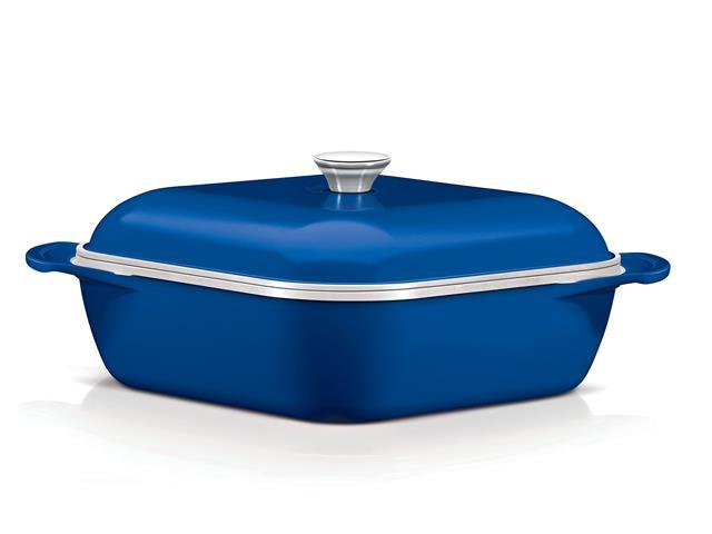 Caçarola Quadrada Tramontina Design Collection Azul 28 cm