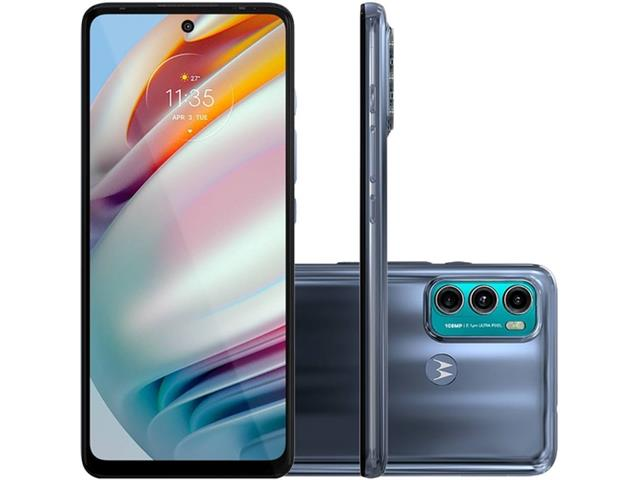 "Smartphone Motorola Moto G60 4G 128GB 6.8"" TriplaCâm 108+8+2MP Azul"