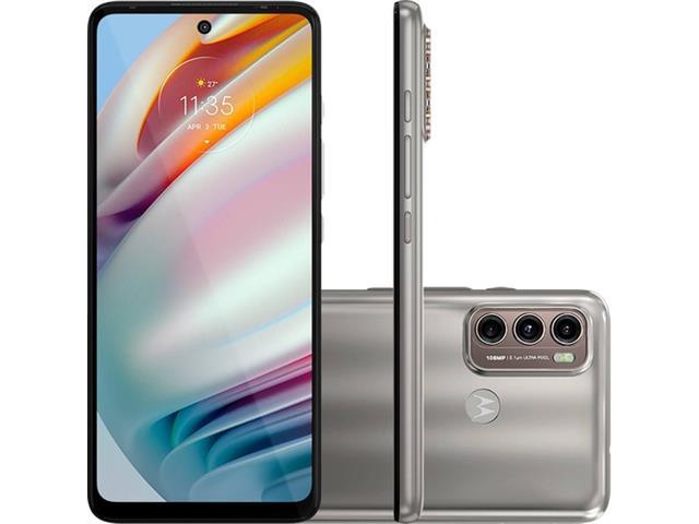 "Smartphone Motorola Moto G60 4G 128GB 6.8"" Câmera 108+8+2MP Champagne"