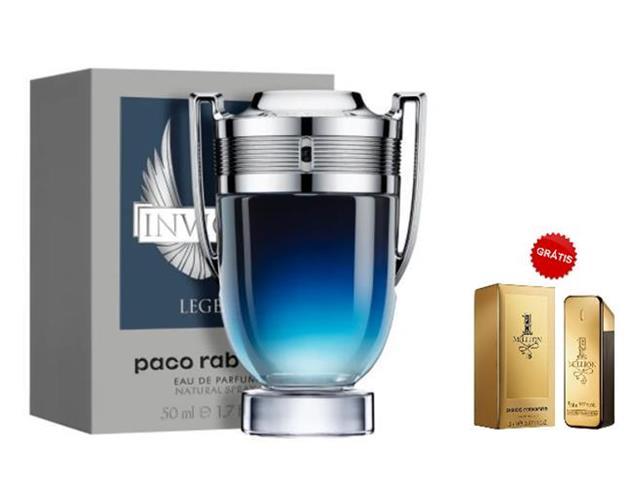 Perfume PacoRabanne InvictusLegend 50ML Grátis Miniatura 1 Million 5ML