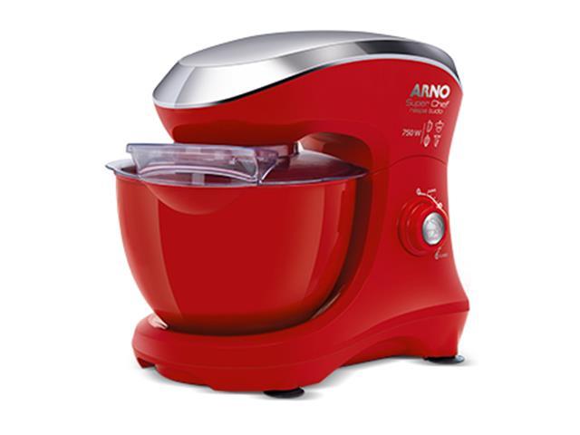 Batedeira Planetária Arno Super Chef Maxi 700W Vermelha
