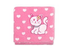Manta Infantil para Berço Buettner Microfibra Baby Prety Cat Pink - 1