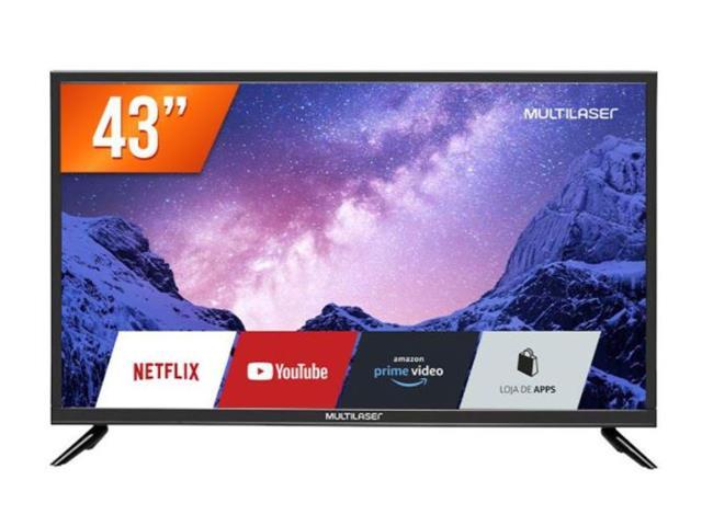 "Smart TV Multilaser FHD com Wifi Integrado e Netflix Bivolt 43"""