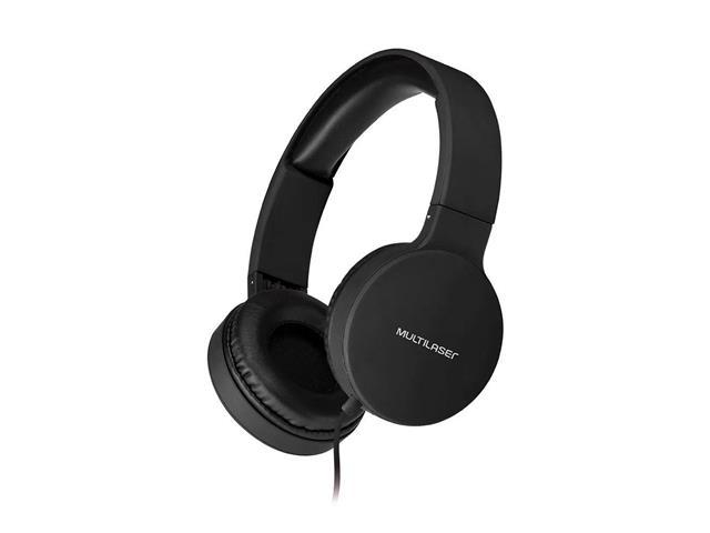 Fone de Ouvido Headphone Dobrável Multilaser PH268 New Fun P2 Preto