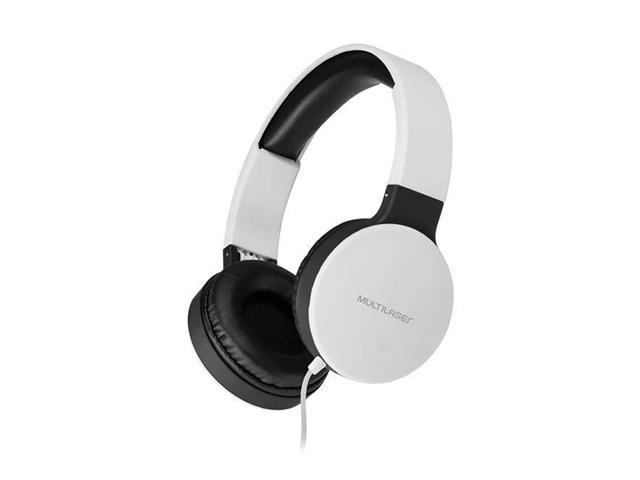 Fone de Ouvido Headphone Dobrável Multilaser PH269 New Fun P2 Branco