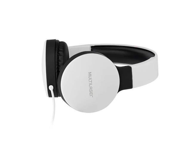 Fone de Ouvido Headphone Dobrável Multilaser PH269 New Fun P2 Branco - 1