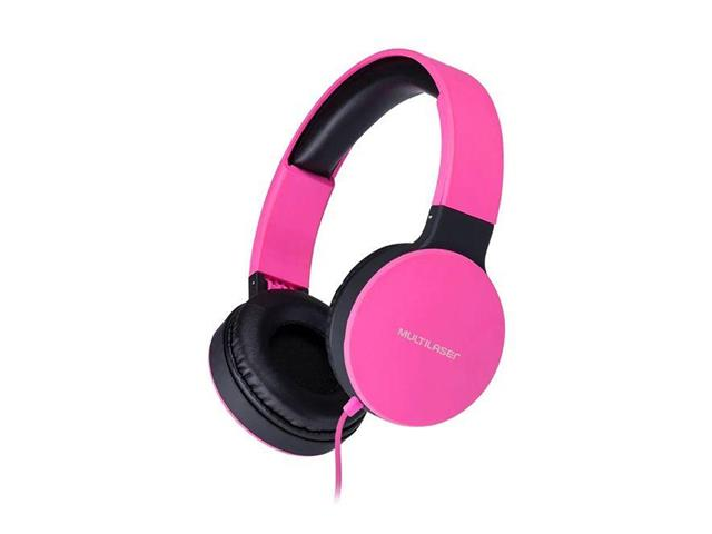 Fone de Ouvido Headphone Dobrável Multilaser PH271 New Fun P2 Rosa