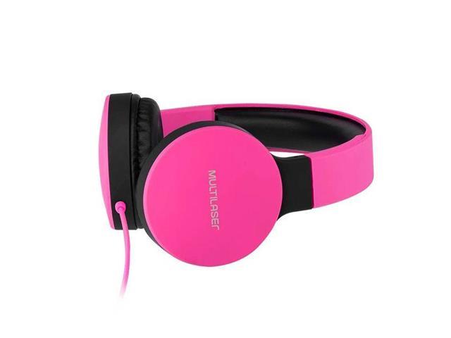 Fone de Ouvido Headphone Dobrável Multilaser PH271 New Fun P2 Rosa - 2