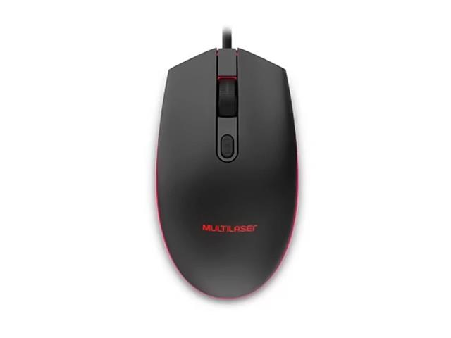 Mouse Gamer Multilaser MO298 2400DPI LED de 7 Cores USB 2.0 Preto