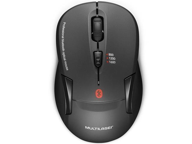 Mouse Sem Fio Multilaser MO254 Bluetooth Preto - 1