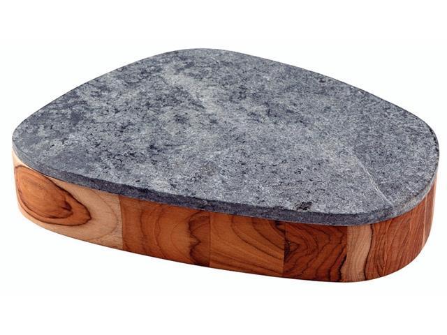 Bowl Tramontina Concreta em Madeira e Tampa em Pedra Sabão Polida