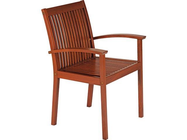 Cadeira de Madeira Tramontina em Jatobá com Braços