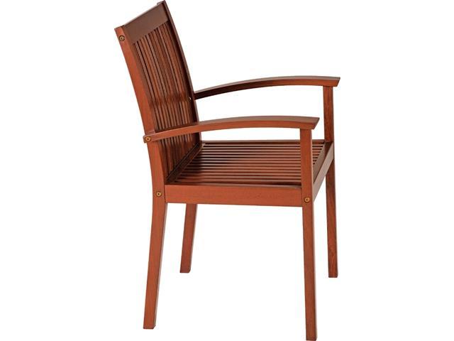 Cadeira de Madeira Tramontina em Jatobá com Braços - 1